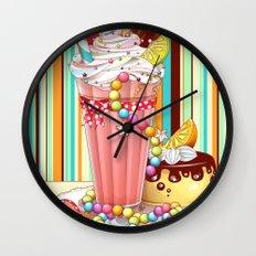 Milkshake Sweetheart Wall Clock