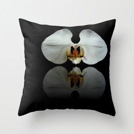White Reflection Throw Pillow