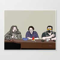 the big lebowski Canvas Prints featuring The Big Lebowski by Josh Ross Illustration