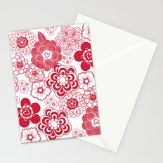 giving hearts giving hope: red garden Stationery Cards