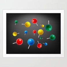 Pushpins  Art Print