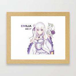 Re: zero Emilia Framed Art Print