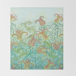 paisley garden Throw Blanket