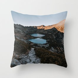Mountain Ponds - Landscape and Nature Photography Throw Pillow