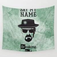 breaking bad Wall Tapestries featuring BREAKING BAD by Zorio