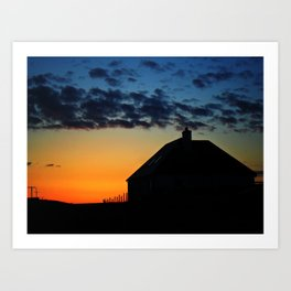 Hebridean Isle Sunset ii Art Print