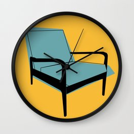 Mid Century Chair Wall Clock