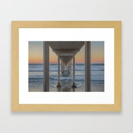Under the Ocean Beach Pier, San Diego, CA Framed Art Print