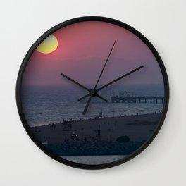 Sunset Over the Newport Peninsula Wall Clock