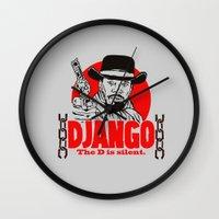 django Wall Clocks featuring Django logo by Buby87
