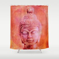 buddha Shower Curtains featuring Buddha by LebensART