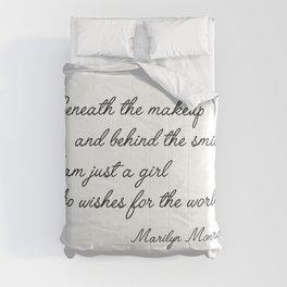 Marilyn quote Comforters
