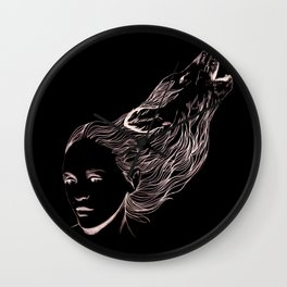 Wolfgirl  Wall Clock