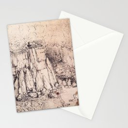 Craggy hill by Leonardo Da Vinci Stationery Cards