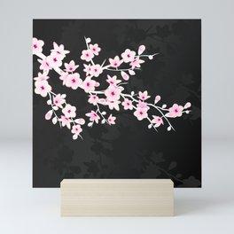 Pink Black Cherry Blossom Mini Art Print