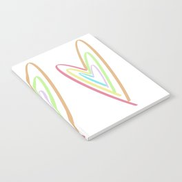 Colorful Heart Notebook