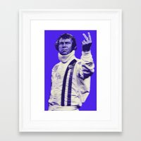 steve mcqueen Framed Art Prints featuring Mcqueen by Adam Doyle