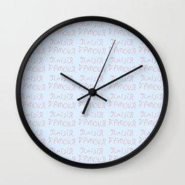 Plaisir d'amour -romance,romantic,love,beauty,girly,gentle,romantism,pleasure of love Wall Clock