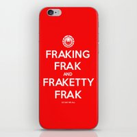 battlestar iPhone & iPod Skins featuring FRAK by John Medbury (LAZY J Studios)