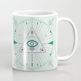 Evil Eye Mandala – Mint Coffee Mug