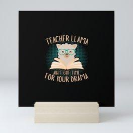 Llama Teacher funny quote gift idea Mini Art Print