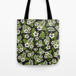 Hawaiian Pattern - Black and White Tote Bag