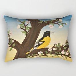 Oriole at Sunset Rectangular Pillow