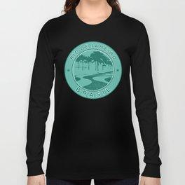 Rio de Janeiro, Brazil, Copacabana beach, green circle Long Sleeve T-shirt