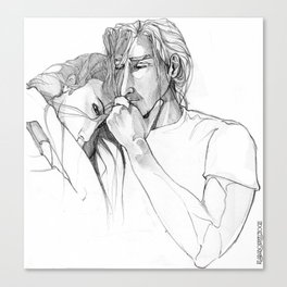 Thoughtful men Canvas Print