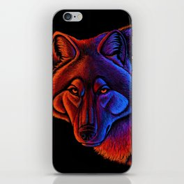 Fire Wolf Colorful Fantasy Animals iPhone Skin