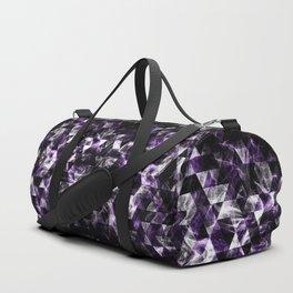 Triangle Geometric Purple Smoky Galaxy Duffle Bag