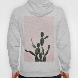 Cactus on Pink and Persian Mosaic Wall Hoody