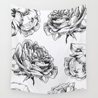 roses Wall Tapestries featuring Roses  by Caitlin Workman