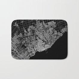 toronto map Bath Mat