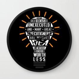 Lab No. 4 Many Great Ideas Go Tim Blixseth Inspirational Quotes Wall Clock