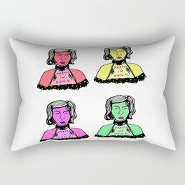 4 Color Punks Rectangular Pillow