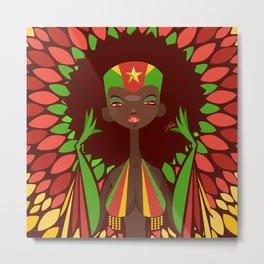 FIFA 2014 Samba Girls Series: Cameroon Metal Print