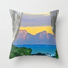 Open Window Sunrise False Bay Throw Pillow