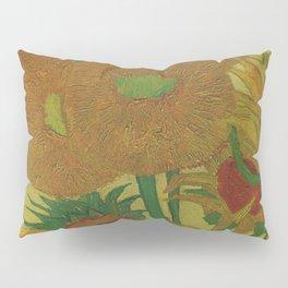Van Gogh, sunflowers 2 – Van Gogh,Vincent Van Gogh,impressionist,post-impressionism,brushwork,paint Pillow Sham