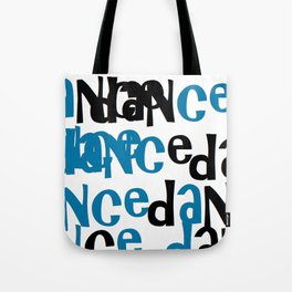 dance in blue Tote Bag