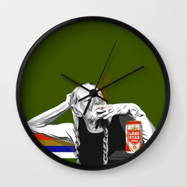 Willie at the Lounge Wall Clock