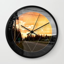 There's Color in Everything Wall Clock