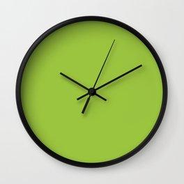 Solid Color Neon Green Wall Clock