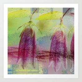 Modern Floral Abstract Art Print