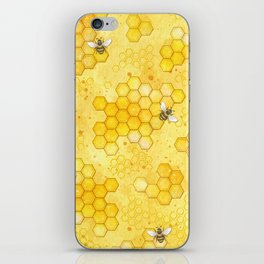 Meant to Bee - Honey Bees Pattern iPhone Skin