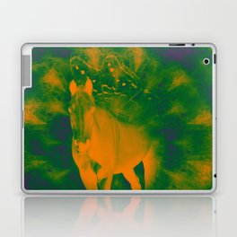 Pegasus emerging from a surreal mandala landscape Laptop & iPad Skin