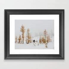Walking in Larch Land Framed Art Print
