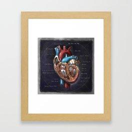 Fruit of Life series - heart, by Chok Bun Lam Framed Art Print