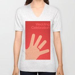 Wedding Celebration. By Angelica Ramos Unisex V-Neck