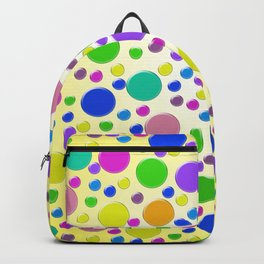 Confetti on yellow background Backpack